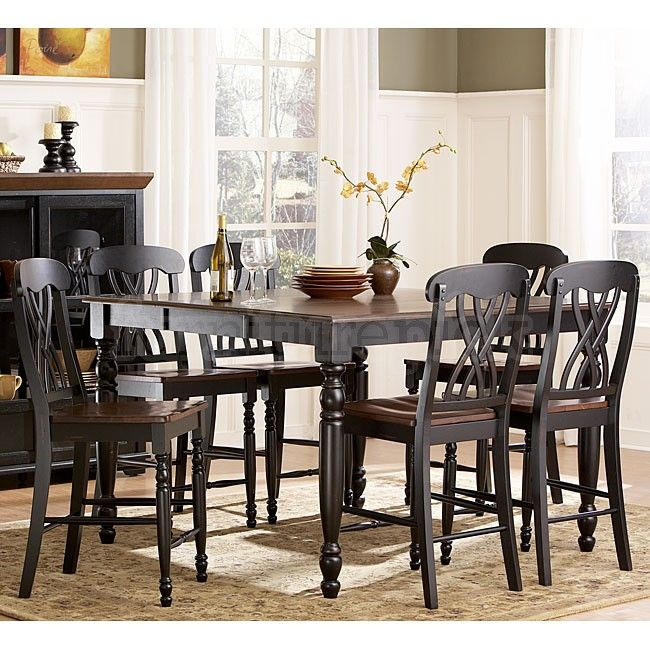 Ohana Counter Height Dining Room Set (Black)