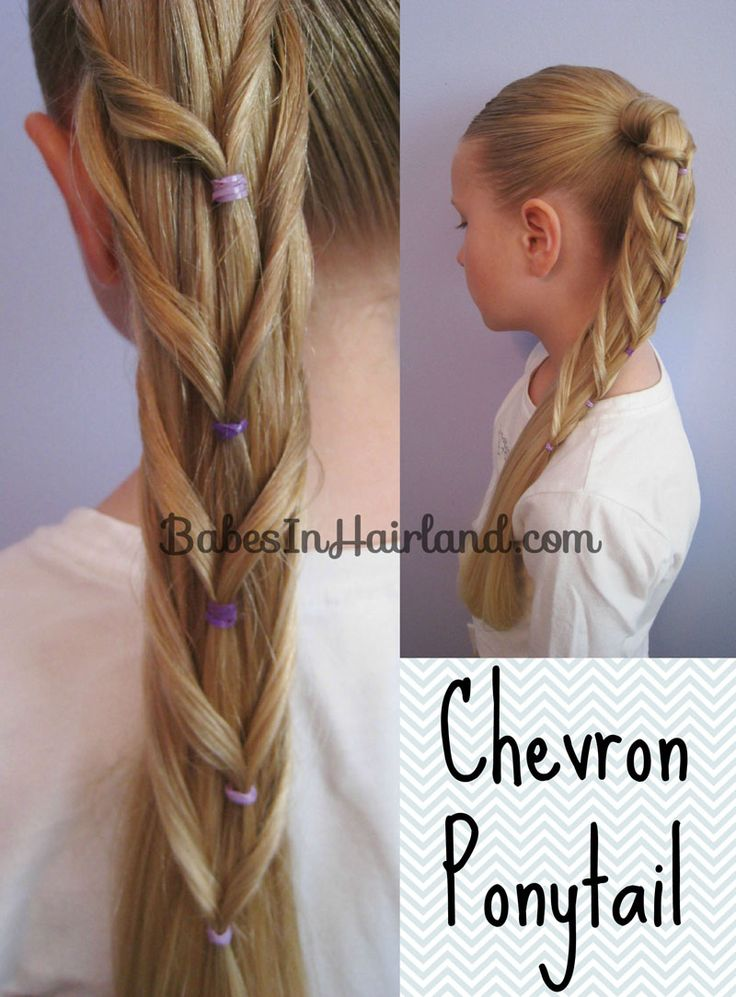 Chevron Ponytail from BabesInHairland.com  Wow this is simple. I tried it on Bella and it turned out pretty and painless. ~ Sarah