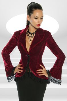 chaquetas bordadas de terciopelo mujer - Buscar con Google