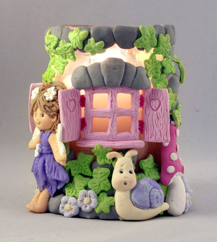 Candle Jar decorated by Kathryn Sturrock using her new Sugar Buttons Accessory moulds - the Enchanted Window and Garden Snail - Fabulous!