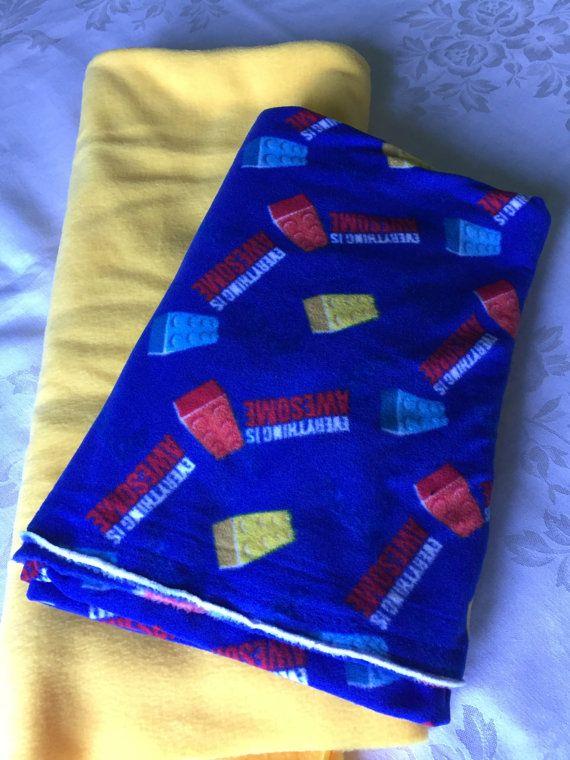 Cozy Lego fleece tie blanket/baby by BriersBlankets on Etsy