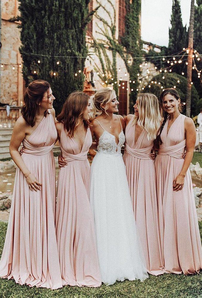 30 Must Have Wedding Images For Your Photo Album Wedding Forward Blush Pink Bridesmaid Dresses Light Pink Bridesmaid Dresses Pink Bridesmaid Dresses Long