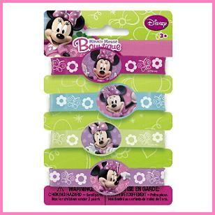 Minnie Mouse Rubber Bracelets, $.99 Cdn each.