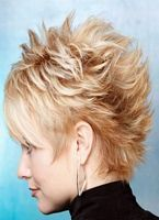 Blonde Short Hair Lifted And Spiky Kr 243 Tkie Fryzury