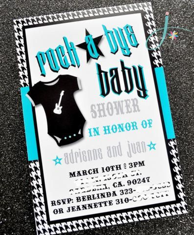 rock star baby boy shower - Google Search