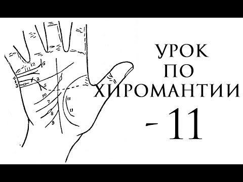 Видео урок по хиромантии, линии и знаки на руке - YouTube