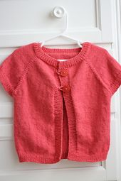 Free Pattern Ravelry: Quick Knit Baby Shrug pattern by Natalie Haban