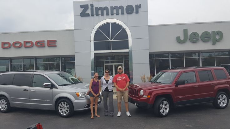 Jason and Jessica Marsh needed two vehicles for their family and Zimmer CDJR delivered! Sales Consultant Alicia Smith looked over our used inventory and found them this Jeep Patriot and Chrysler Town & Country. Thank you both for your business and we are thrilled that you came to see us! www.zimmermotors.com/staff