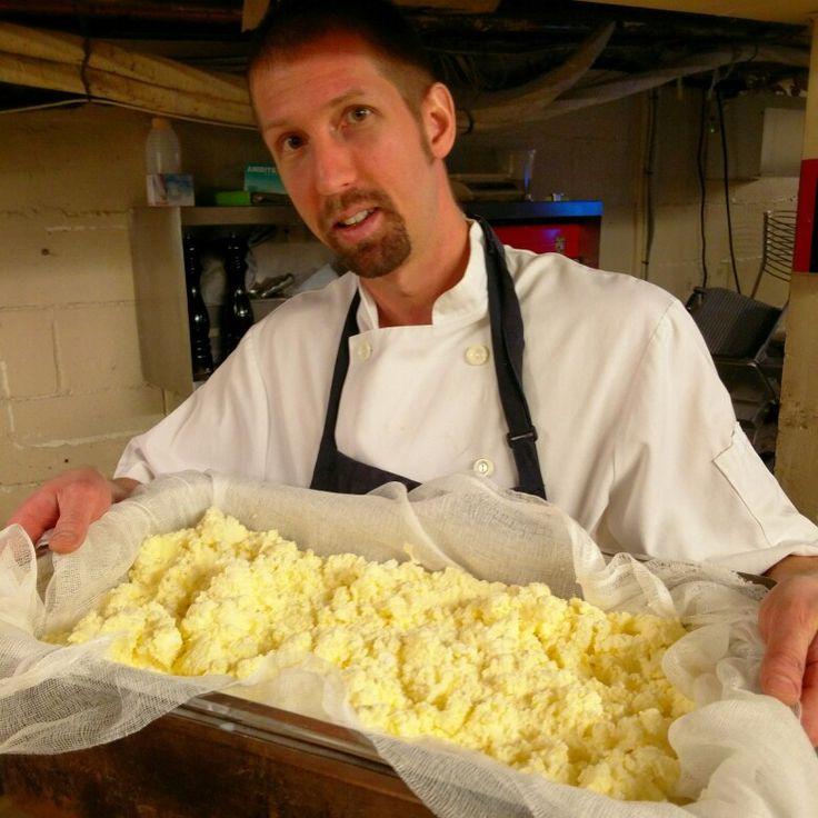 Chef Dan making butter