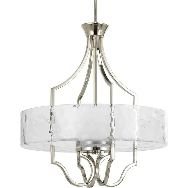 Thomasville lighting caress collection polished nickel foyer pendant 785247168453 home depot canada
