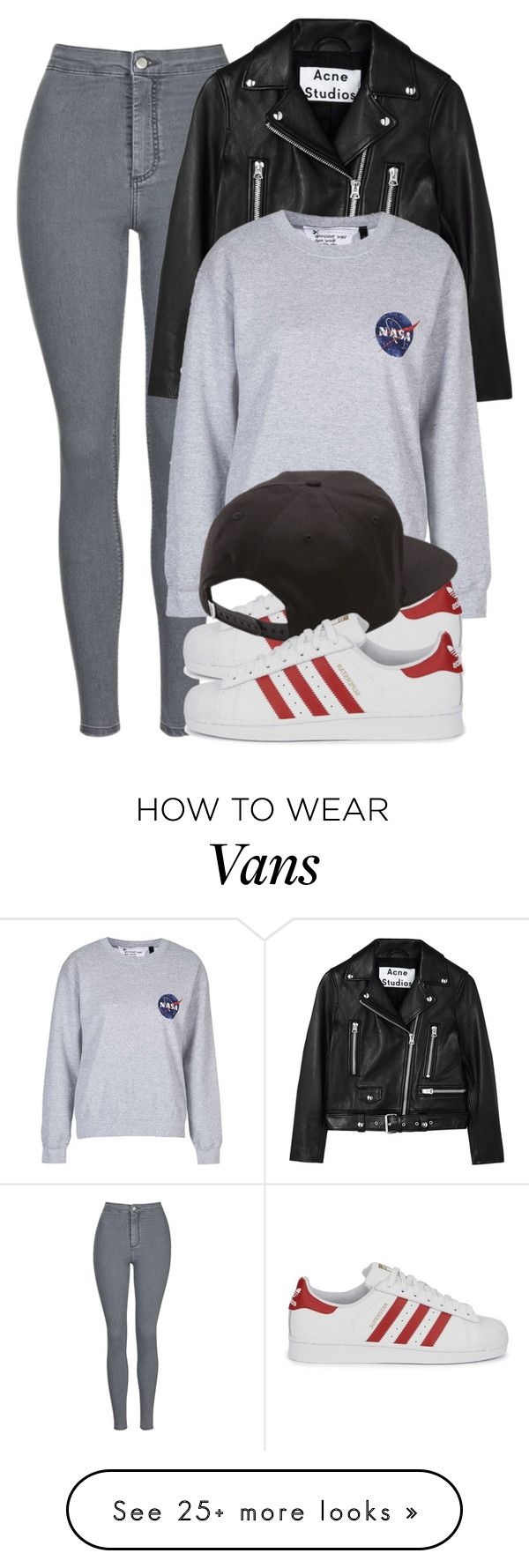 """Untitled #1434"" by noka76 on Polyvore featuring Topshop, Acne Studios, adidas…"