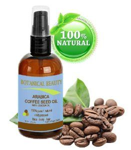 Arabica Coffee Seed Oil, 100% Pure/ Natural. For Face, Body and Hair. Wrinkle Reducer, Anti- Puffiness / Dark Circles, Anti Cellulite. 2 oz- 60 ml by Botanical Beauty. $19.95. Used topically for wrinkles, anti dark circle and anti puffy eyes, scars, stretch marks, rashes, burns, acne scars, dry skin, cracked skin.... For all skin types, also for dry/flaky, sensitive and mature skin types. Improves elasticity, encourages regeneration of skin cells. Helps restore skin's ow...