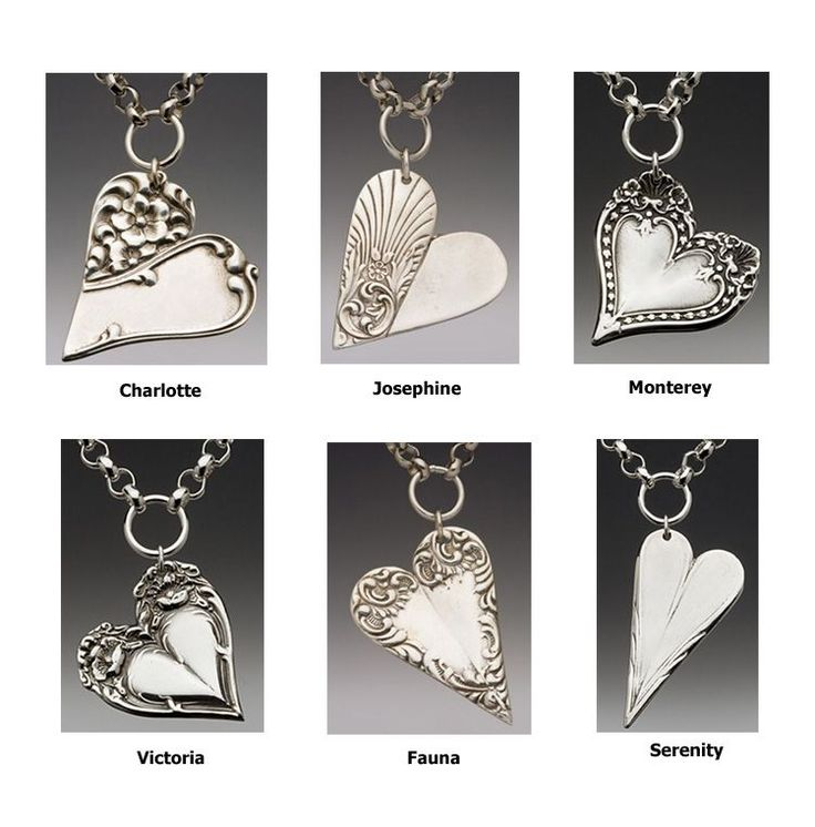 How to Make Silverware Jewelry | Spoon Jewelry - Spoon Heart Charm Necklace