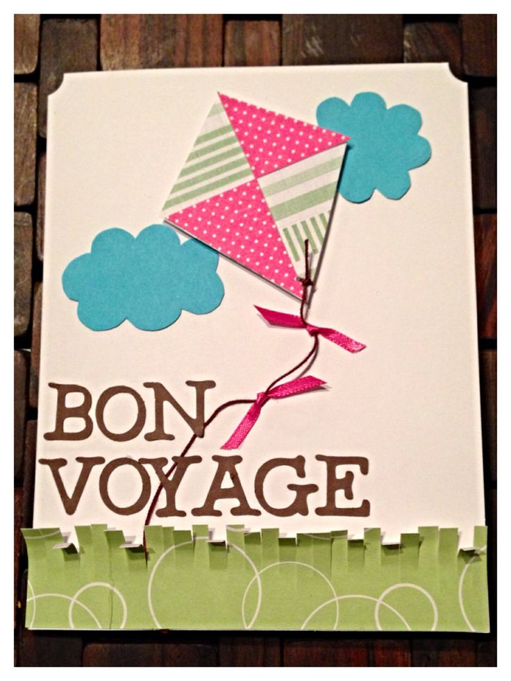 Bon voyage kite going away card