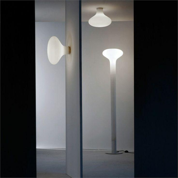 Design LED Fluorescent Polyethylene Floor Lamp