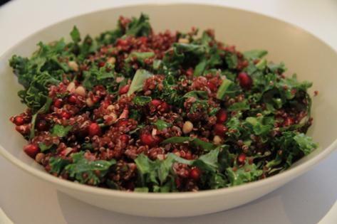 Kale & Pomegranate Salad from dietitian Kerryn Boogaard.