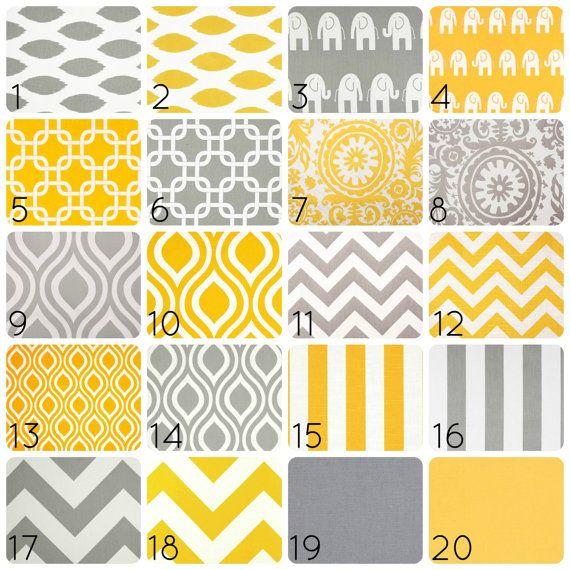 Yellow or Gray Curtain Panels. 50 X 108 Inches. Drapes. Window Treatments. Chevron, Chain Link, Suzani, ikat, Stripes, elephants