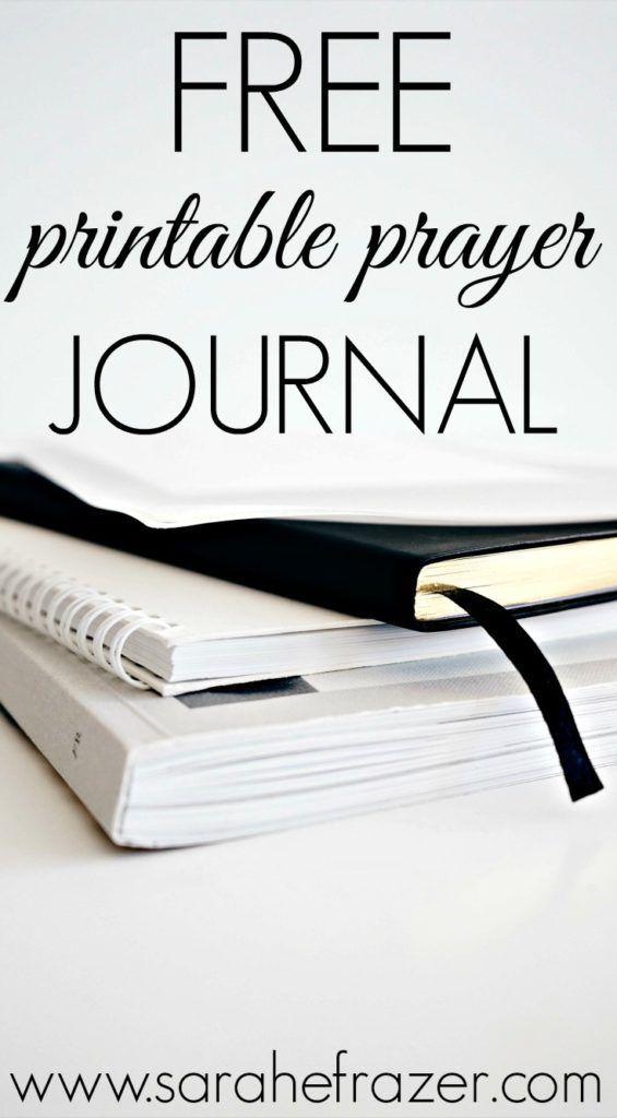 Free Printable Prayer Journal The Best of Sarah E Frazer\u0027s