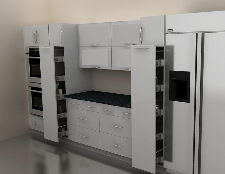 Die besten 25+ Pantry küche design Ideen auf Pinterest - waschmaschine in der k che verstecken