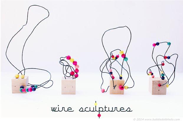 Kid Crafts: Wire Sculpture Art