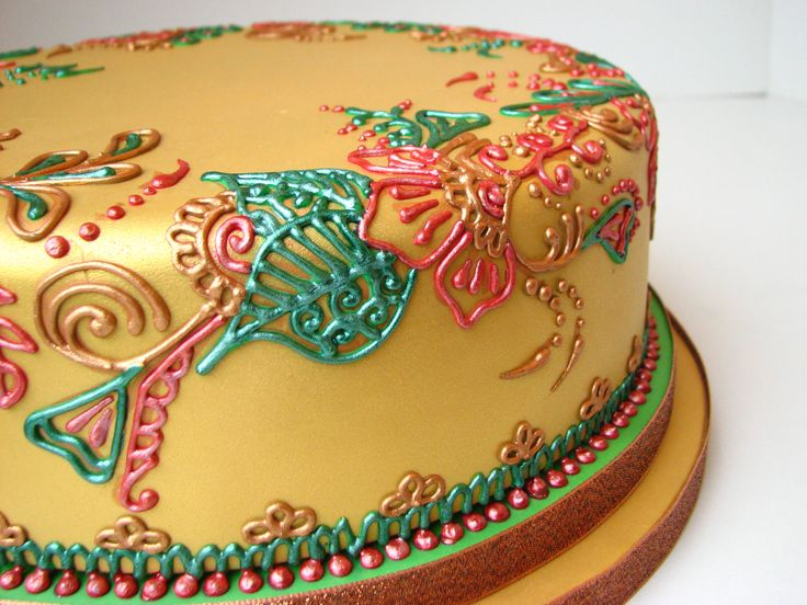 Mehndi Cake Tutorial : Best pillow cakes images