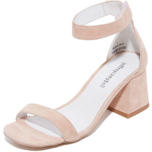 Jeffrey Campbell Fero Sandals ($68) ❤ liked on Polyvore featuring shoes, sandals, natural, jeffrey campbell sandals, block heel shoes, buckle strap sandals, real leather shoes and jeffrey campbell