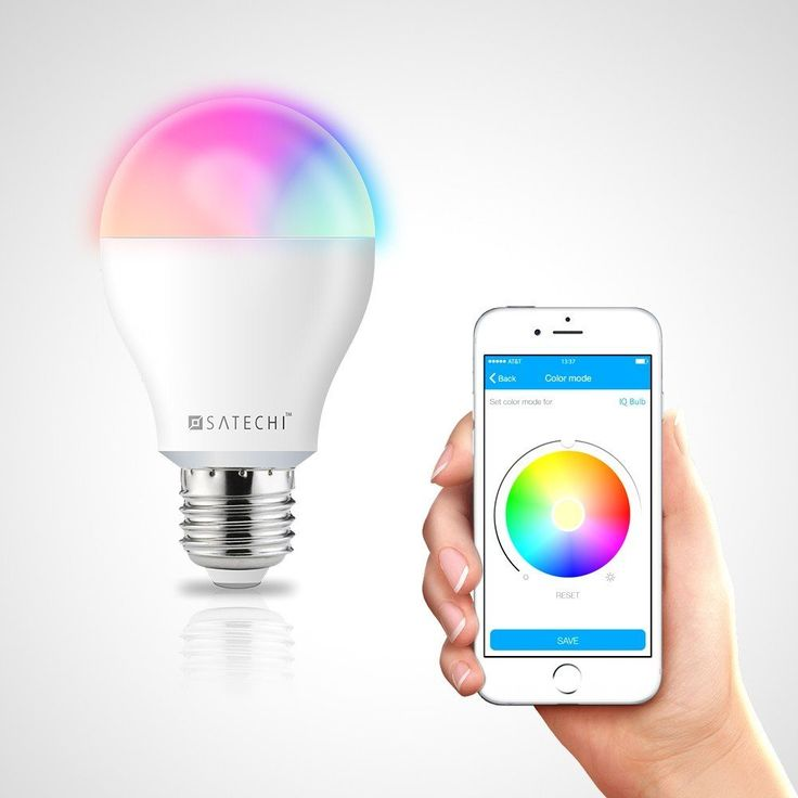 Amazon.co.jp: Satechi® サテチ IQ レインボー スマート LED電球 Bluetooth 4.0 8W (50W相当) (iPhone 6 Plus/6/5S/5C, iPod Touch 5G/4G, iPad Air 2/Air/Mini/3/2/1): DIY & Tools