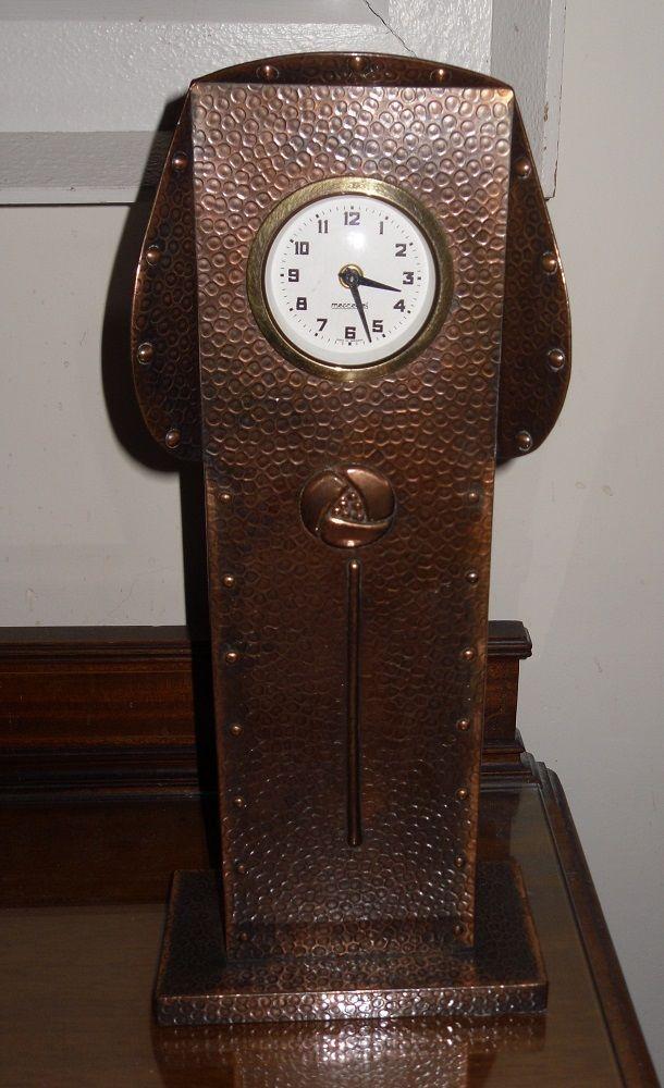 Arts & Crafts J & F Pool Hayle Cornwall clock