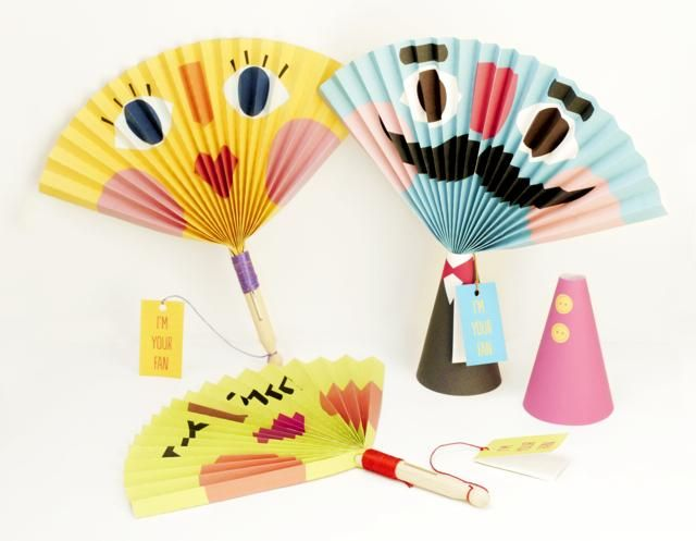 DIY Summer Crafts for Kids...we make our own faces instead of printing templates :)