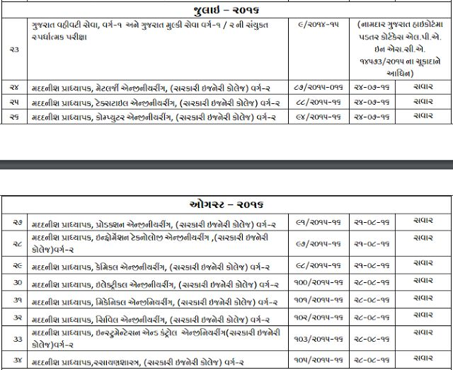 GPSC Exam Schedule 2016-2017 Upcoming Exam Dates, Download Time - civil service exam application form