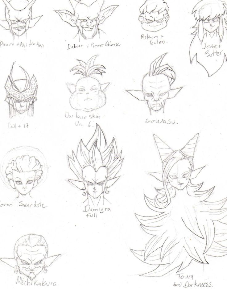 Character Design Dragon Ball Z : Best dragonball z images on pinterest drawing ideas