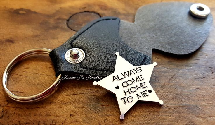 Always Come Home To Me, 5 Point Sheriff Token with Case, Make It Home Safe Deputy Badge, Personalized Sherriff Badge Charm, Retirement Gift by JazzieJsJewelry on Etsy