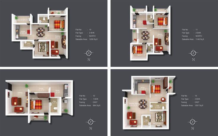 Sree Daksha's Kshiptha - Apartment Floor Plan