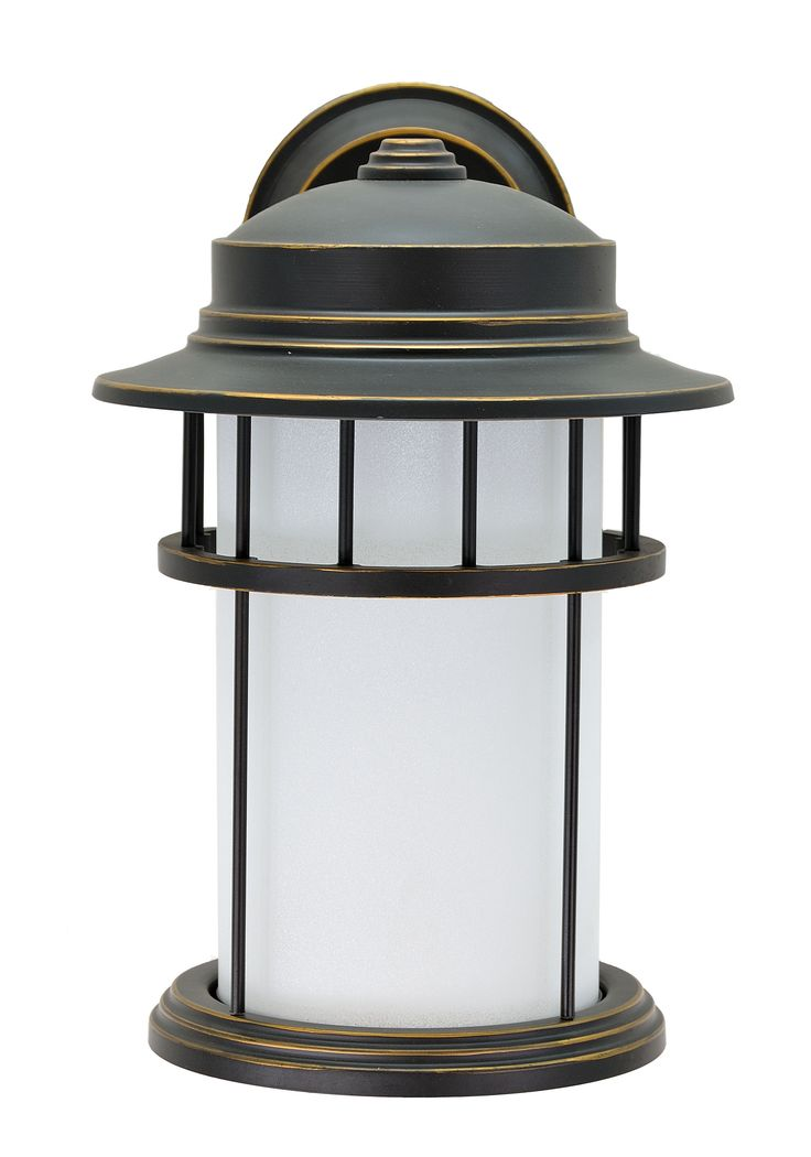 """# 60003 1 Light Large Outdoor Wall Light Fixture with Dusk to Dawn Sensor, Transitional Design in Aged Bronze Patina, 15 3/4"""" High"""