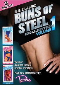 The original Buns of Steel and Abs of Steel videos that you fell in love with in the 80's & 90's are back and in DVD format. Tamilee Webb's Buns of Steel Collection Volume 1 includes Buns of Steel 3, Abs of Steel and Arms & Abs of Steel. This Buns of Steel Collection will help you workout every part of your body and will give you unbelievable results.