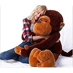 Valentine day Gifts New Year Stuffed Animals Gian Big Teddy Bears Official Giant Huge Large Big Stuffed Soft Plush Brown Monkey Bear Doll Plush Toy Kids Stuffed Toys For Children Dolls By Gangnumsky