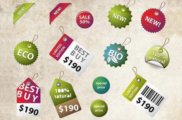 Free Download: Price Labels and Badges for Black Friday