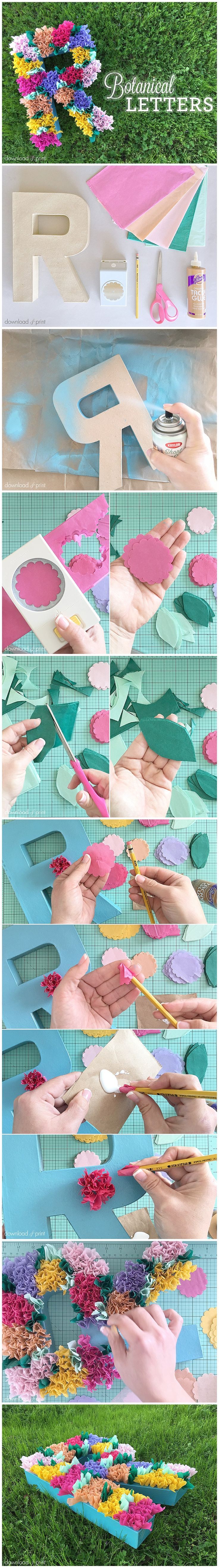 Learn how to make these darling tissue paper flowers from @downloadprint on the blog!!