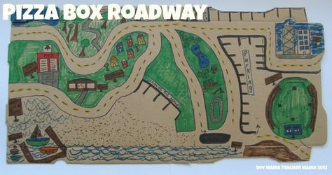 Boy Mama: Pizza Box Roadway - we can always use another roadway.