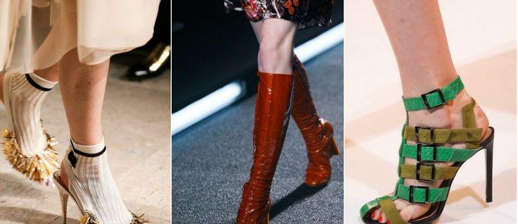Яркая модная обувь весной