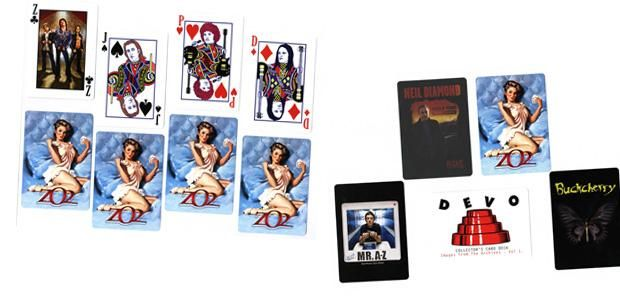 custom playing cards bands