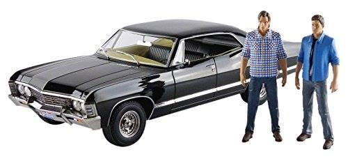 """1967 Chevrolet Impala Sport Sedan with Sam and Dean Figures """"Supernatural"""" (TV Series 2005) 1/18 by Greenlight 19021 http://order.sale/qMwj…"""