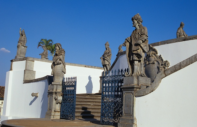The twelve prophets - The art of Aleijadinho - Listed as World Heritage by UNESCO. In Congonhas, MG - Brazil