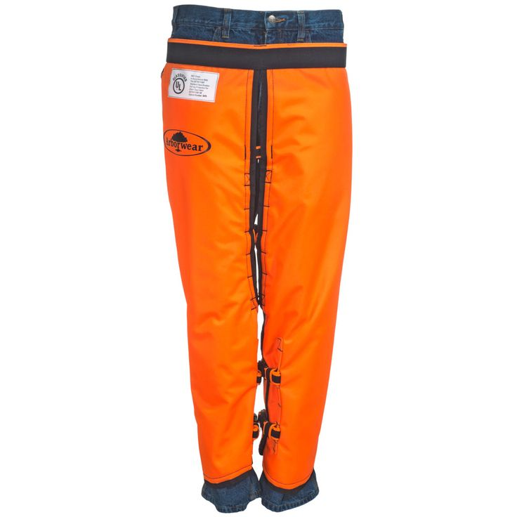 Arborwear Men's 820100 Orange RAC Water-Resistant Chainsaw Chaps