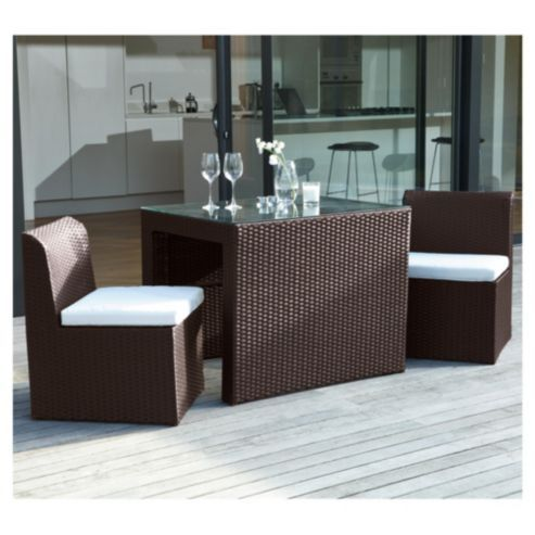 Buy Cuba Breakfast Set Brown from our Garden Furniture Sets range - Tesco.com