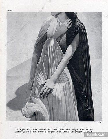 Grès (Germaine Krebs) 1947 Evening Gown, Photo Meerson