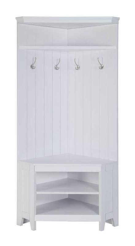 prepac ashley shoe storage bench white. 195 White Wood Corner Four Double Hook Shoe Storage Hall Tree Prepac Ashley Bench