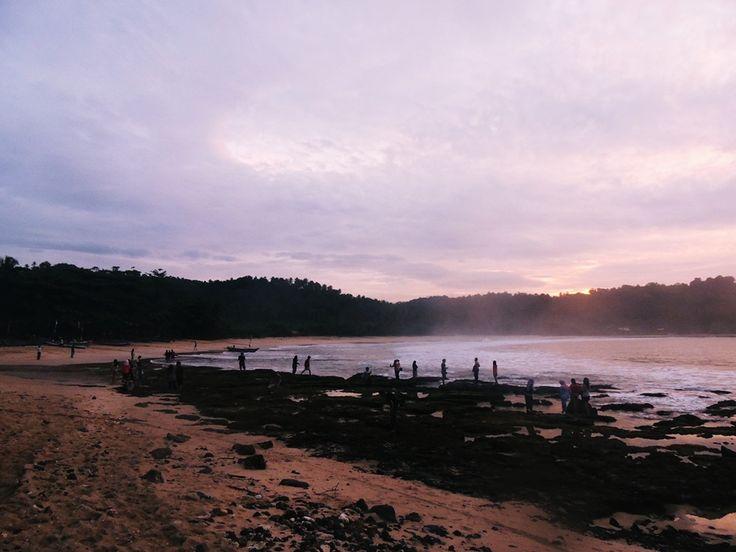 Sunrise at Legon Pari Beach, Indonesia