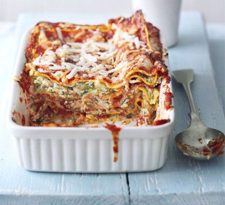 Quick courgette lasagne - we're trying to eat more veggie meals in the name of economy. This was pretty good, especially with a big salad