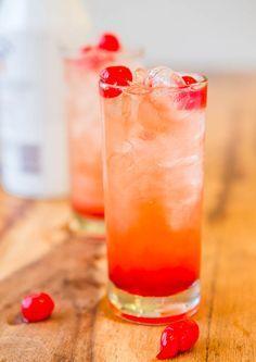 Malibu Sunset {Pineapple-Orange Juice, Malibu Coconut Rum, Grenadine, & Maraschino Cherries}